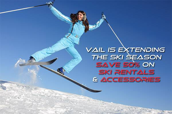 Vail Extends Ski Season Save 50%