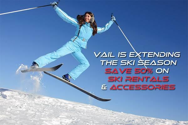 Vail Extends Ski Season Save 50%
