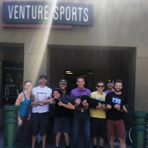 Green Riders at Venture Vail Bike Shop