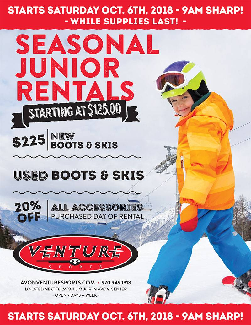 kids vail ski rental package